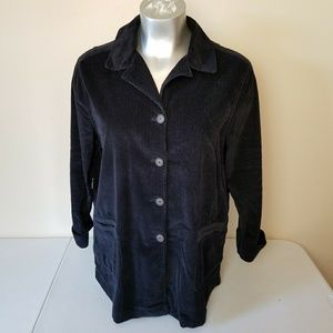 J. Jill Corduroy Button Front Shirt Jac